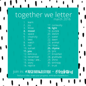 Together We Letter : March 2016