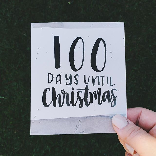 100 days until Christmas!