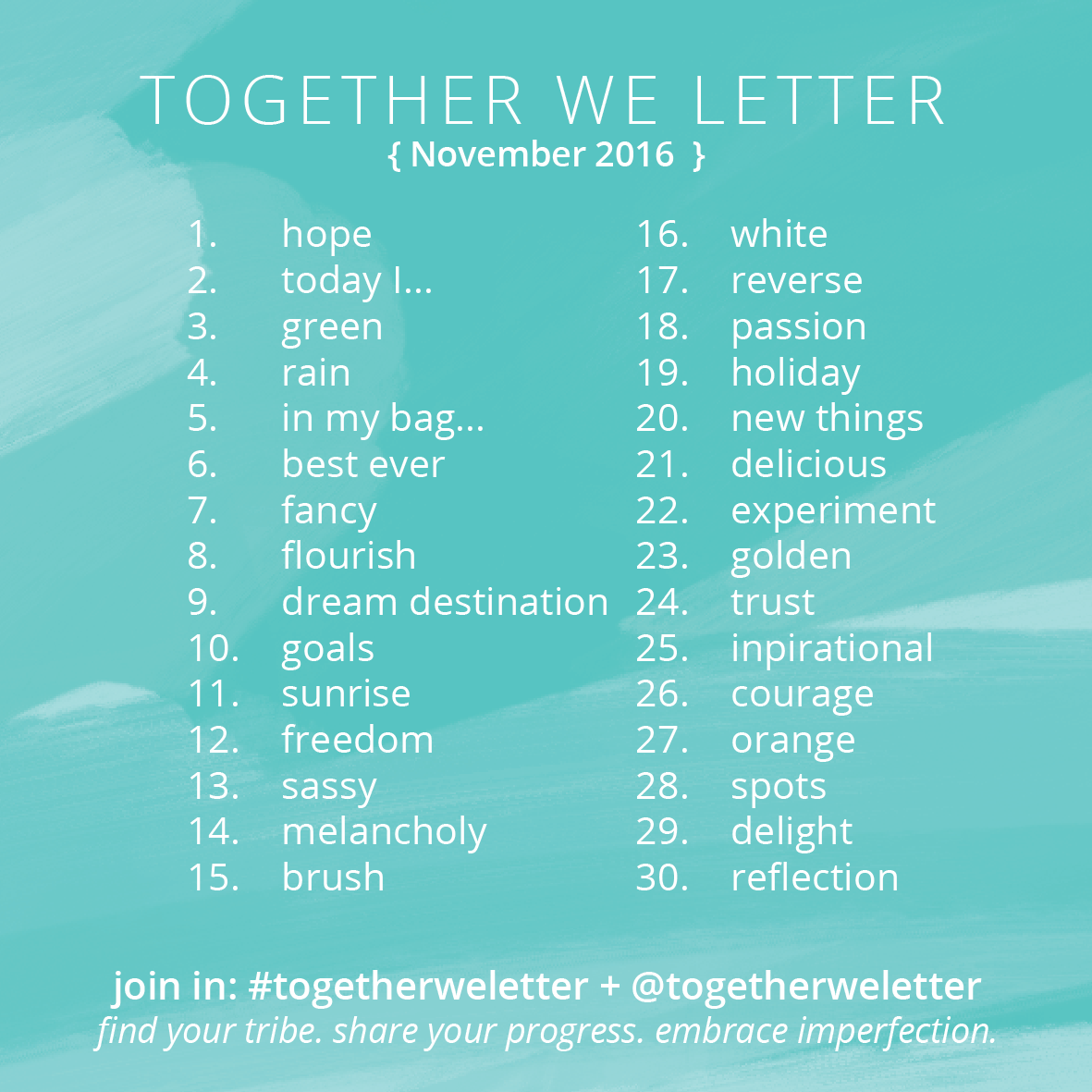 Together We Letter : November 2016