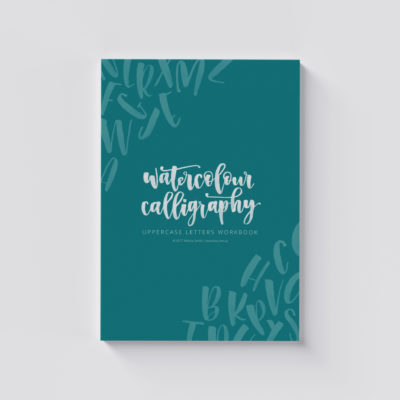 Watercolour Calligraphy Uppercase Letters